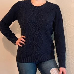 Blue Cable Knit Sweater